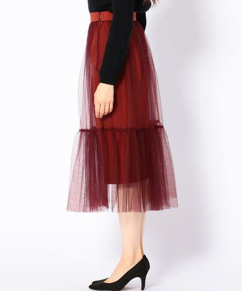 SHIPS for women / シップスウィメン ロング・マキシ丈スカート | Prefer SHIPS: チュールレイヤードギャザースカート | 詳細4