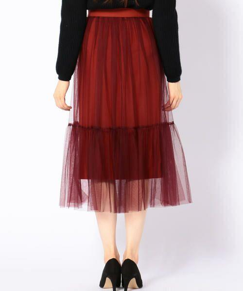 SHIPS for women / シップスウィメン ロング・マキシ丈スカート | Prefer SHIPS: チュールレイヤードギャザースカート | 詳細5