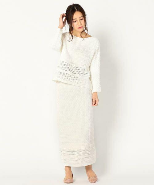 SHIPS for women / シップスウィメン ロング・マキシ丈スカート | Prefer SHIPS: かぎ編みスカート | 詳細4