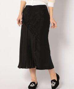 """<a href=https://www.t-fashion.jp/shop/ships?sale_yn=1><font color=red><b>SHIPSのセールアイテム一覧はこちら</b></font></a><br><br>【muller of yoshiokubo】よりプリーツスカートが登場。<br>シャーリングが調節できるので、アシンメトリーなシルエットでも楽しんでいただけます。<br><br>【muller of yoshiokubo】<br>デザイナ-の久保嘉男さんはPhiladelphia University's School of Textile & Science ファッションデザイン学科卒業後、2000~04年までNY BERGDORF GOODMAN / BARNY'S NEW YORK / SAKS FIFTH AVENUE などの顧客を抱えるオ-トクチュ-ルデザイナー  ロバ-トデンス氏のもと4年間クチュ-ルの全てのコレクションの作製に携わる。04年9月゛ yoshio kubo """" s/sMen's & Womens Collectionを発表。06年10月゛muller of yoshiokubo″とブランド名を改め07s/s発表。""""Dress  for daily life""""をコンセプトにドレスラインをメインにコレクションを展開している。<br><br><br>※末永く愛用頂く為に、アテンションタグ・洗濯ネームを必ずご確認の上、着用又はお取り扱い下さい。"""