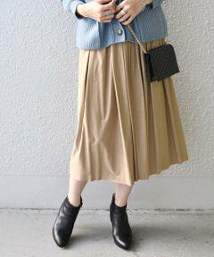 程よいボリューム感に、秋カラーがコーディネートのアクセントになってくれる上品なスカート。<br>甘くなり過ぎないシルエットが、カジュアルから綺麗めにと楽しめるデザイン。長めの着丈で、安心感と清潔感があるのもポイントの1枚です。<br><br>※この商品は摩擦(特に湿った状態での摩擦)や、汗や雨などで濡れた時は他の衣料や下着(特に白)物に色移りする場合がありますので、十分にご注意下さい。<br>※末永く愛用頂く為に、アテンションタグ・洗濯ネームを必ずご確認の上、着用又はお取り扱い下さい。<br><br><font color=RED>※画像の商品はサンプルです。 </b></font><br>実際の商品と仕様、加工、サイズが若干異なる場合がございます。<br><br><br>※屋外での撮影画像は、光の当たり具合で色味が異なって見える場合があります。商品の色味は、スタジオでの詳細画像をご参照ください。<br>