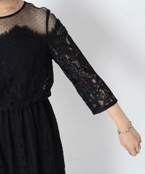 SHIPS for women / シップスウィメン ドレス | little black:レースチュールマキシワンピース◆ | 詳細11