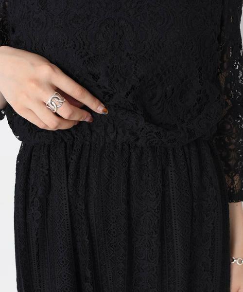 SHIPS for women / シップスウィメン ドレス | little black:レースチュールマキシワンピース◆ | 詳細12
