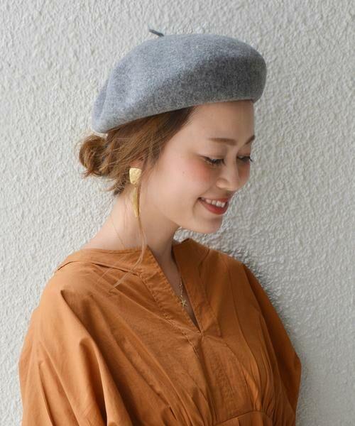SHIPS for women / シップスウィメン ハット | ウールベレー帽◇(グレー)