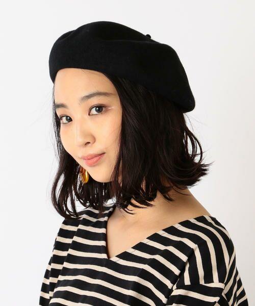 SHIPS for women / シップスウィメン ハット | ウールベレー帽◇(ブラック)
