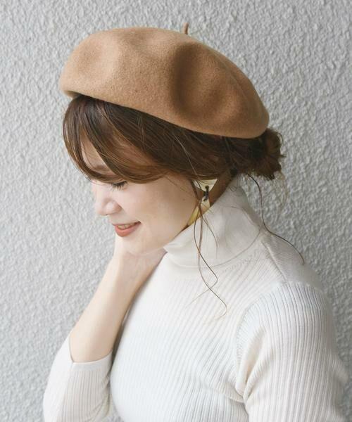 SHIPS for women / シップスウィメン ハット | ウールベレー帽◇(キャメル)