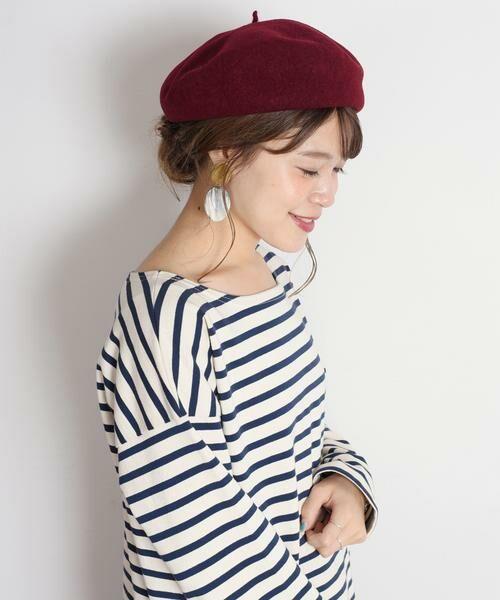 SHIPS for women / シップスウィメン ハット | ウールベレー帽◇(ワイン)