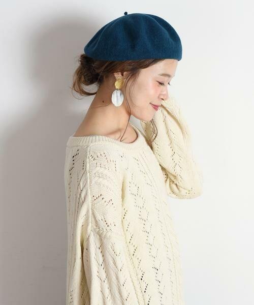 SHIPS for women / シップスウィメン ハット | ウールベレー帽◇(グリーン)