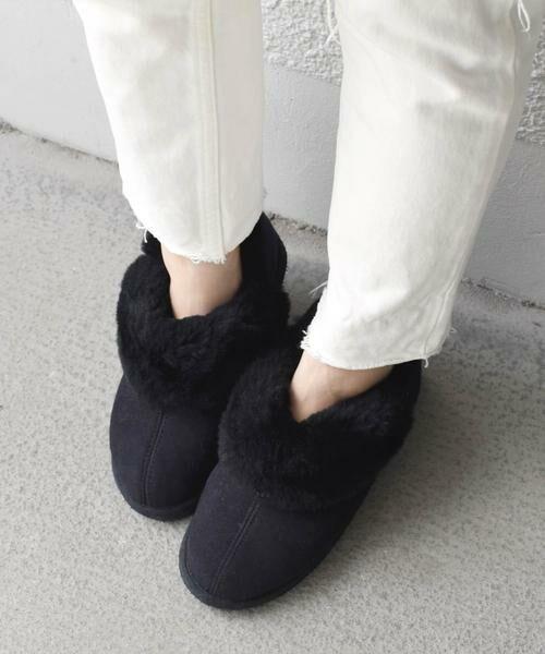 SHIPS for women / シップスウィメン ブーツ(ショート丈) | SHEPHERD:ムートンブーツ◇(ブラック)