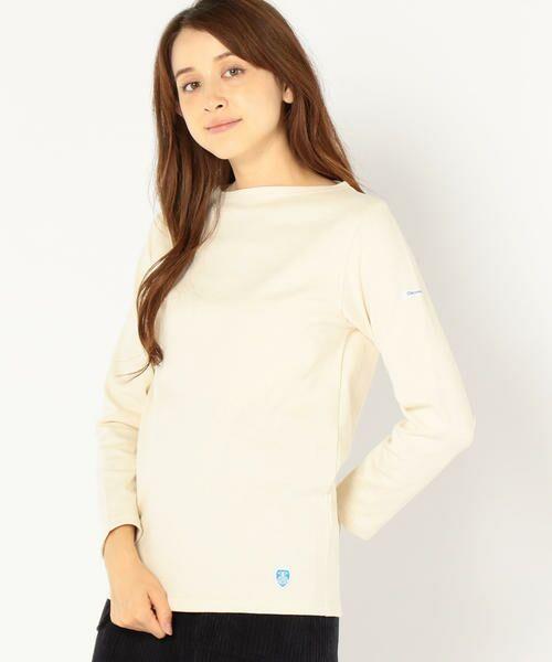 SHIPS for women / シップスウィメン カットソー | ORCIVAL:バスクシャツ(アイボリー)