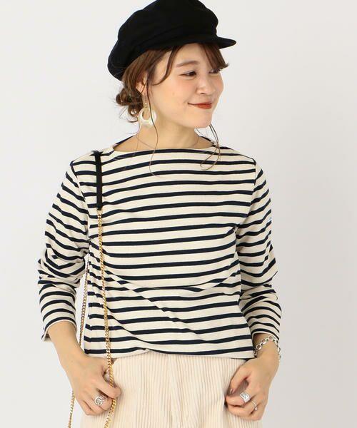 SHIPS for women / シップスウィメン カットソー | ORCIVAL:バスクシャツ(ナチュラル)