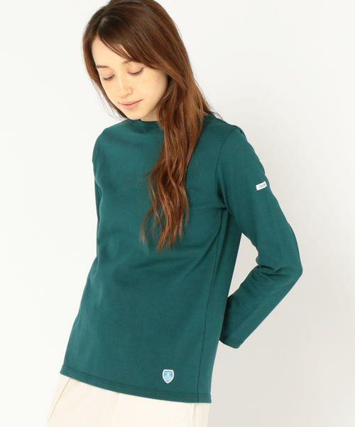 SHIPS for women / シップスウィメン カットソー | ORCIVAL:バスクシャツ(グリーン)
