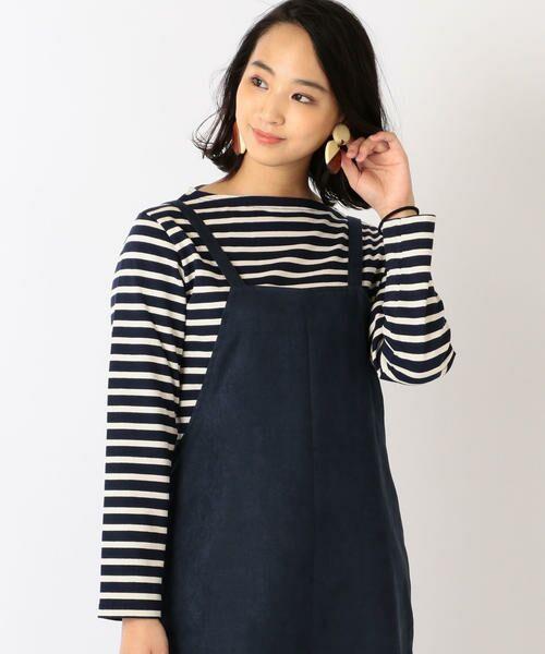 SHIPS for women / シップスウィメン カットソー | ORCIVAL:バスクシャツ(ネイビー)