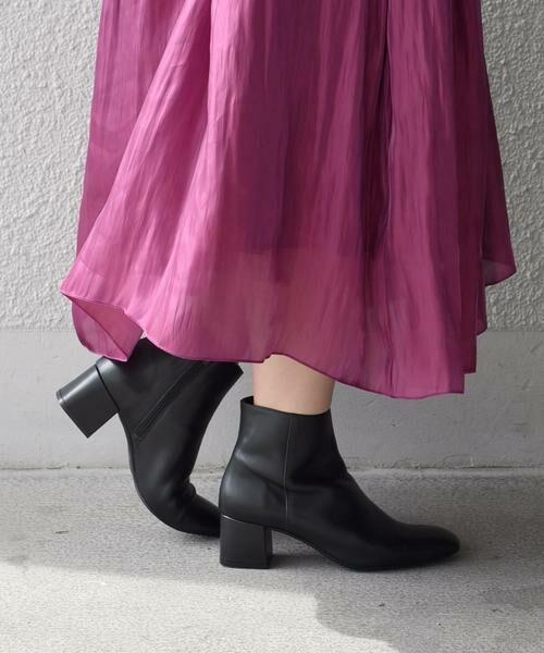 SHIPS for women / シップスウィメン ブーツ(ショート丈) | FLAMENQUITAS:ショートブーツ(ブラック)