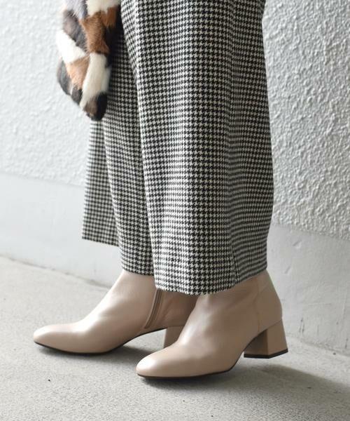 SHIPS for women / シップスウィメン ブーツ(ショート丈) | FLAMENQUITAS:ショートブーツ(ベージュ)