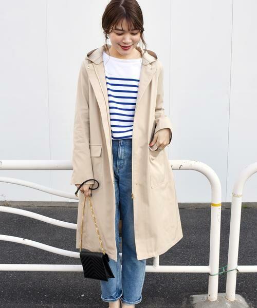 SHIPS for women / シップスウィメン その他アウター | コットンフードライナーコート◇(ベージュ)