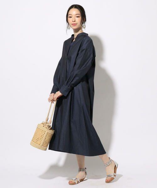 SHIPS for women / シップスウィメン ミニ丈・ひざ丈ワンピース | SOMELOS デニムワンピース◇ | 詳細3