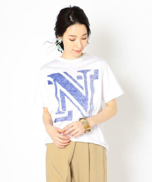 SHIPS for women / シップスウィメン Tシャツ | helder:コットンNプリントTEE(ロイヤルブルー)