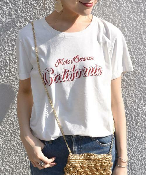 SHIPS for women / シップスウィメン Tシャツ   プリントTEE◇(ホワイト)