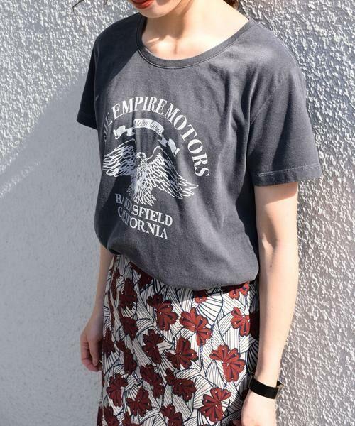 SHIPS for women / シップスウィメン Tシャツ   プリントTEE◇(ダークグレー)