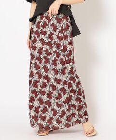 <font color=#db7093>DEVEAUX社のプリントを使った、春の雰囲気漂うスカート。</font><br>もも回りがすっきり見えるマーメイド型のスカートは一枚は持っておきたいアイテム。<br>トレンドの着丈眺めのトップスと合わせやすいバランス感が魅力の1点です。<br><br>DEVEAUX社は由緒ある素材メーカーで、その歴史、伝統及びフランス国内も与えた影響が認められ、フランス政府より、COMPANY HERITAGE(企業遺産)の称号が与えられています。<br><br><br>※末永く愛用頂く為に、アテンションタグを必ずご確認の上、着用又はお取り扱い下さい。