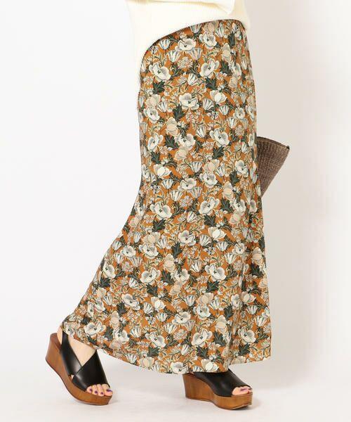 SHIPS for women / シップスウィメン ロング・マキシ丈スカート | DEVEAUX マーメイドスカート(オレンジ)