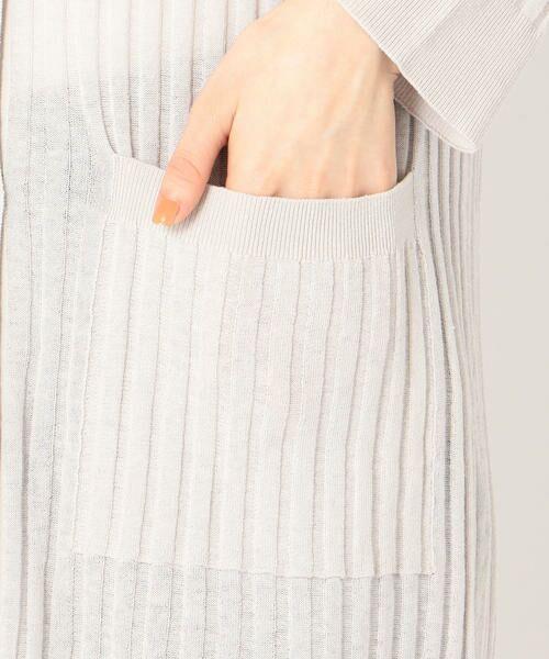 SHIPS for women / シップスウィメン カーディガン・ボレロ | 【手洗い可能】リネンコットンリブカーディガンワンピース◇ | 詳細9