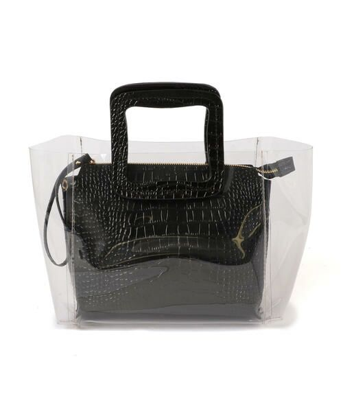 SHIPS for women / シップスウィメン トートバッグ | ANITA BILARDI :2WAY PVCバッグ | 詳細1