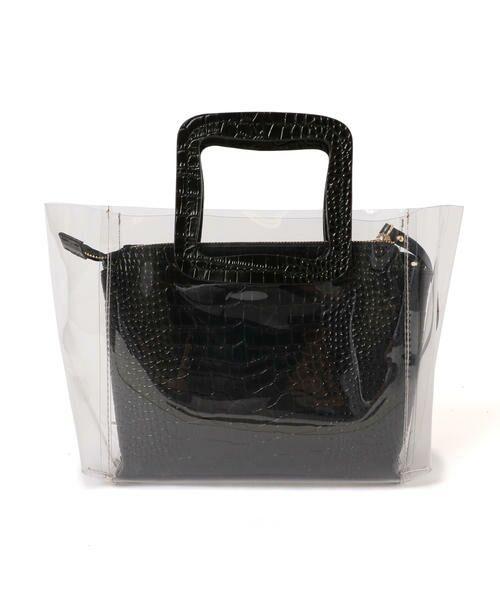 SHIPS for women / シップスウィメン トートバッグ | ANITA BILARDI :2WAY PVCバッグ | 詳細3