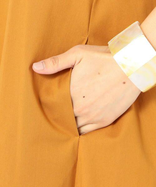 SHIPS for women / シップスウィメン ミニ丈・ひざ丈ワンピース | 《予約》ショルダーボタンノースリーブワンピース◆ | 詳細26