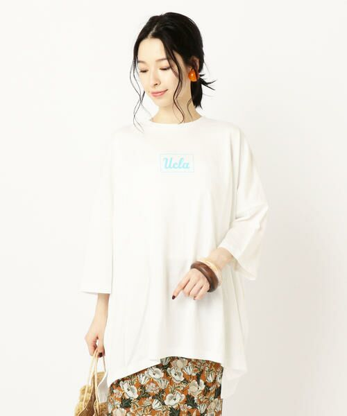 SHIPS for women / シップスウィメン Tシャツ   カレッジビッグTee   詳細4