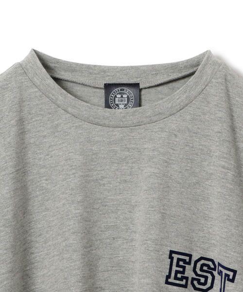 SHIPS for women / シップスウィメン Tシャツ   カレッジビッグTee   詳細5