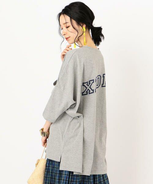 SHIPS for women / シップスウィメン Tシャツ   カレッジビッグTee   詳細11