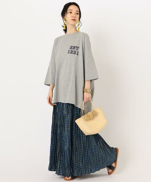 SHIPS for women / シップスウィメン Tシャツ   カレッジビッグTee   詳細12