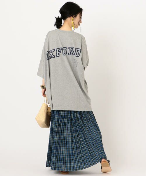 SHIPS for women / シップスウィメン Tシャツ   カレッジビッグTee   詳細13