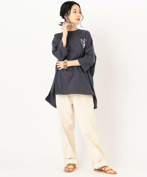 SHIPS for women / シップスウィメン Tシャツ   カレッジビッグTee   詳細16