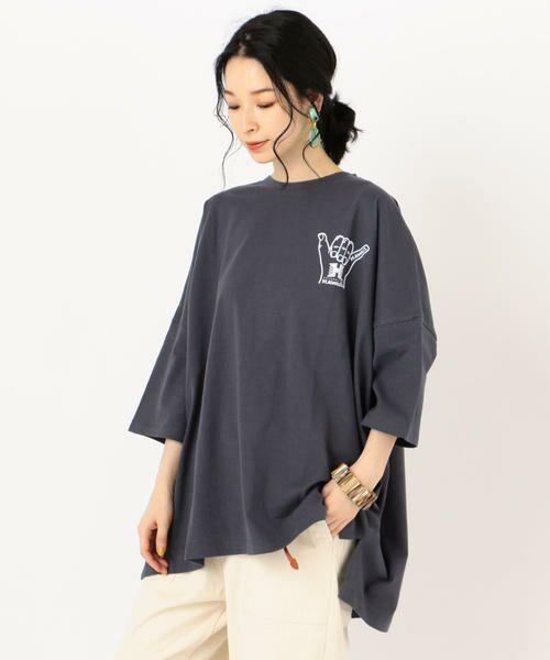 SHIPS for women / シップスウィメン Tシャツ   カレッジビッグTee   詳細18