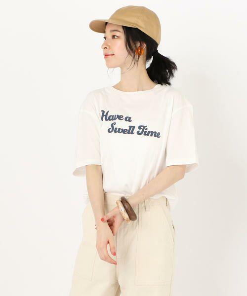 SHIPS for women / シップスウィメン Tシャツ | 81BRANCA: ロゴTEE(ホワイト)
