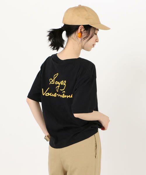 SHIPS for women / シップスウィメン Tシャツ | 81BRANCA: ロゴTEE(ブラック)
