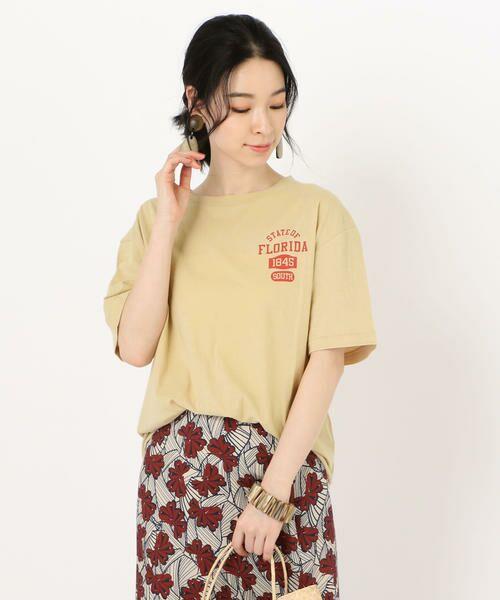 SHIPS for women / シップスウィメン Tシャツ | 81BRANCA: ロゴTEE(ベージュ)