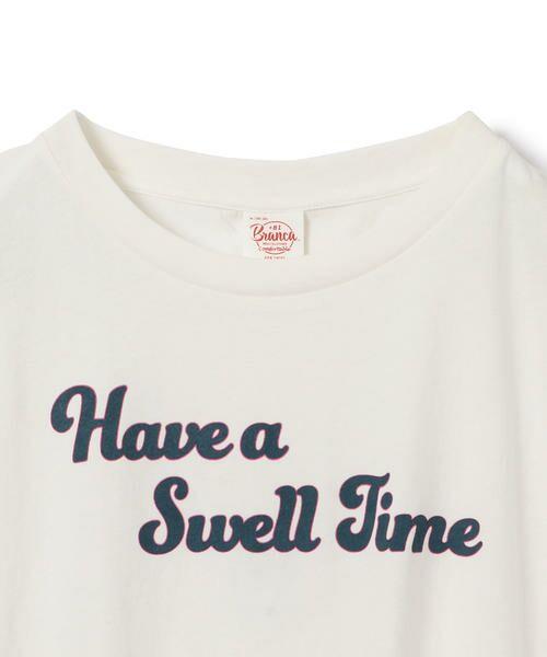 SHIPS for women / シップスウィメン Tシャツ | 81BRANCA:フレンチスリーブロゴTee | 詳細1