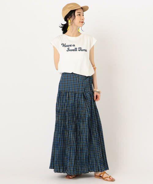 SHIPS for women / シップスウィメン Tシャツ | 81BRANCA:フレンチスリーブロゴTee | 詳細9
