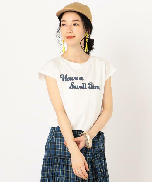 SHIPS for women / シップスウィメン Tシャツ | 81BRANCA:フレンチスリーブロゴTee | 詳細6