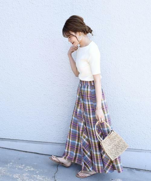 SHIPS for women / シップスウィメン ロング・マキシ丈スカート | マドラスチェックギャザースカート | 詳細2