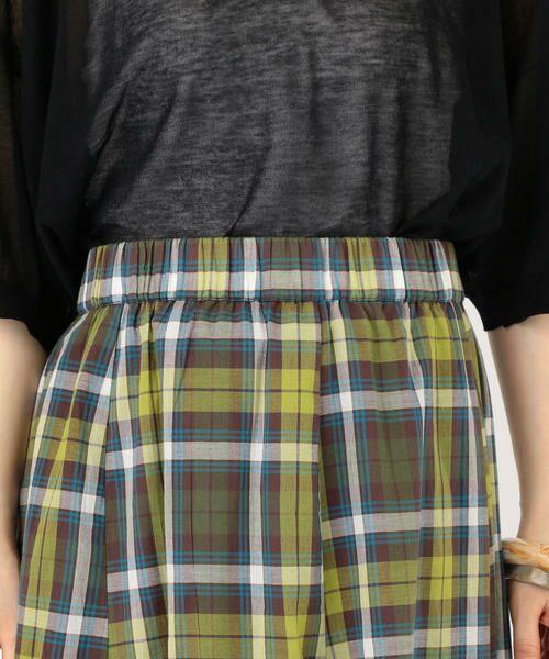 SHIPS for women / シップスウィメン ロング・マキシ丈スカート | マドラスチェックギャザースカート | 詳細20