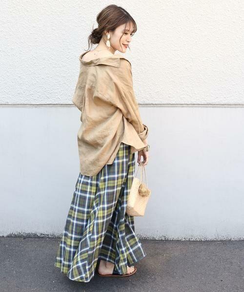 SHIPS for women / シップスウィメン ロング・マキシ丈スカート | マドラスチェックギャザースカート | 詳細10