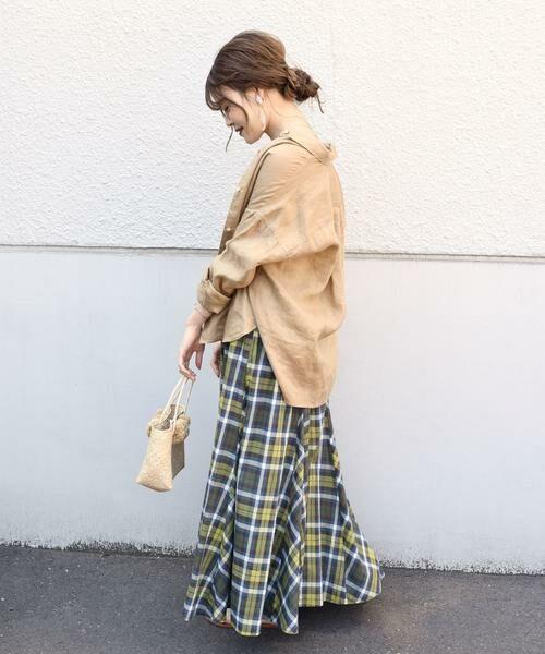 SHIPS for women / シップスウィメン ロング・マキシ丈スカート | マドラスチェックギャザースカート | 詳細11