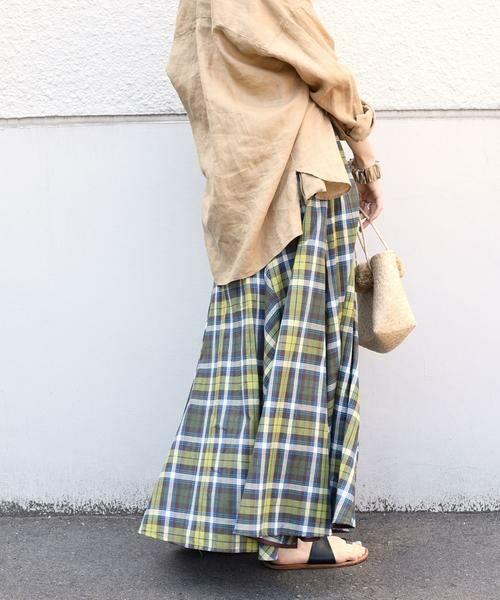SHIPS for women / シップスウィメン ロング・マキシ丈スカート | マドラスチェックギャザースカート | 詳細12