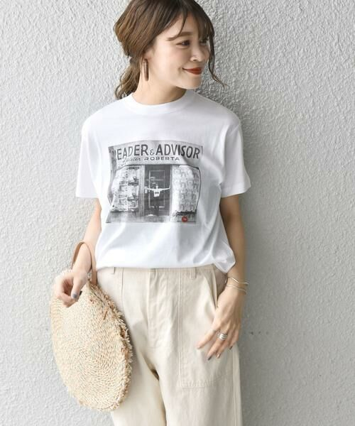 SHIPS for women / シップスウィメン Tシャツ | Roberta Bayley プリントTee | 詳細1