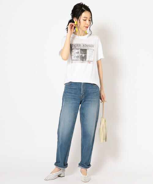 SHIPS for women / シップスウィメン Tシャツ | Roberta Bayley プリントTee | 詳細5